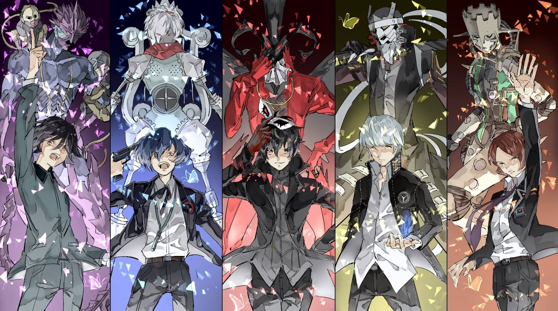 Persona All Protagonists and their initial personas