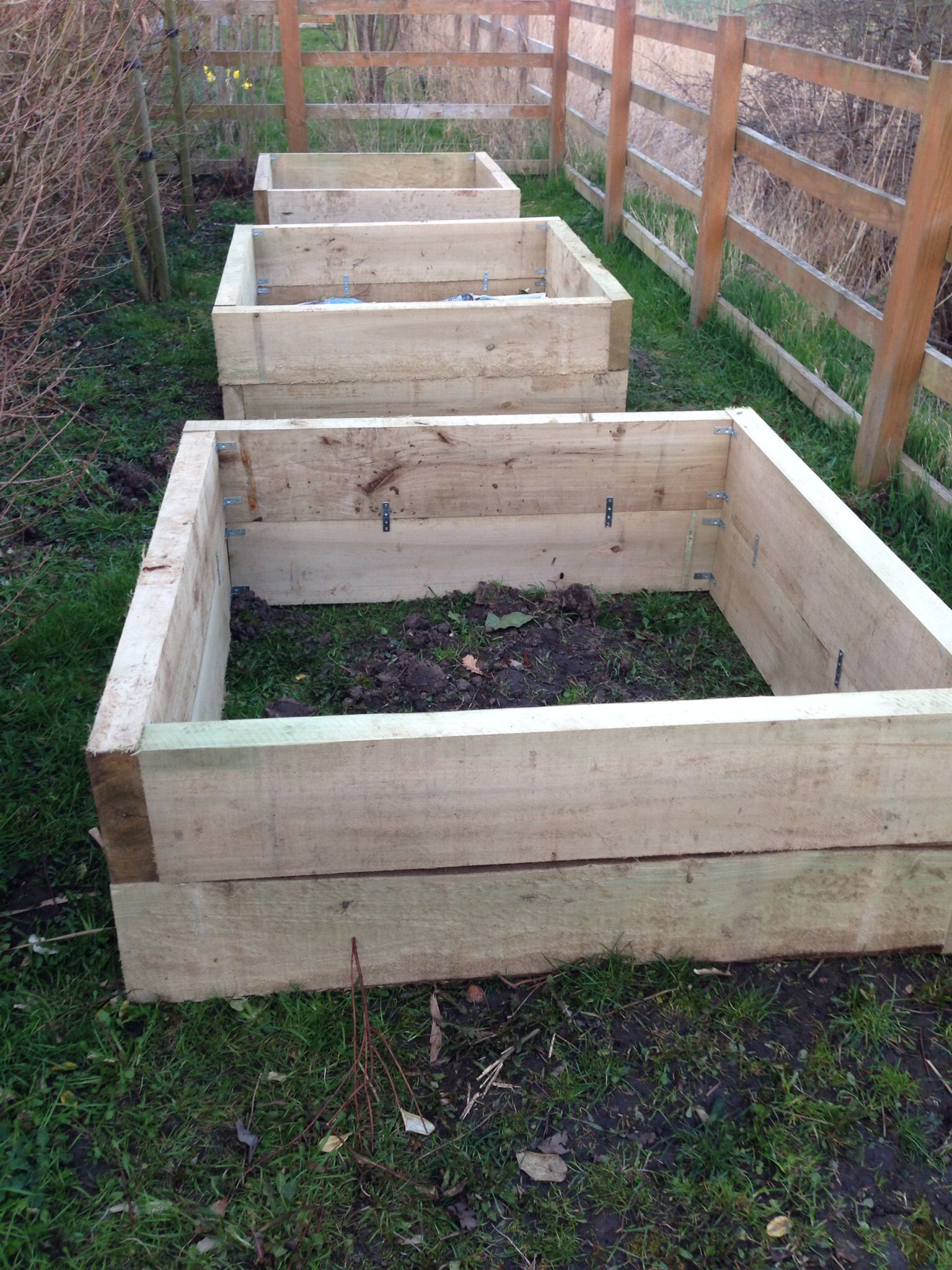 Raised beds built