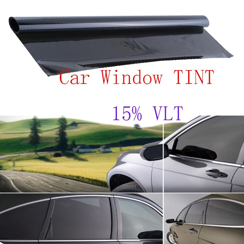 Professional Dark Smoke Black Auto Car Window Glass Tint 15 Vlt Shape Film 600x50cm Car Styling Window Foils Solar Window Tint Film Tinted Windows Black Car