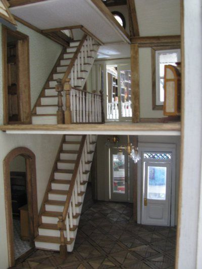 Fairfield Roof And Trim Dollhouse Staircase Dollhouse