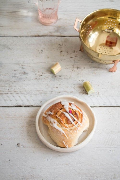Rhubarb and Rose Bun Recipe 2