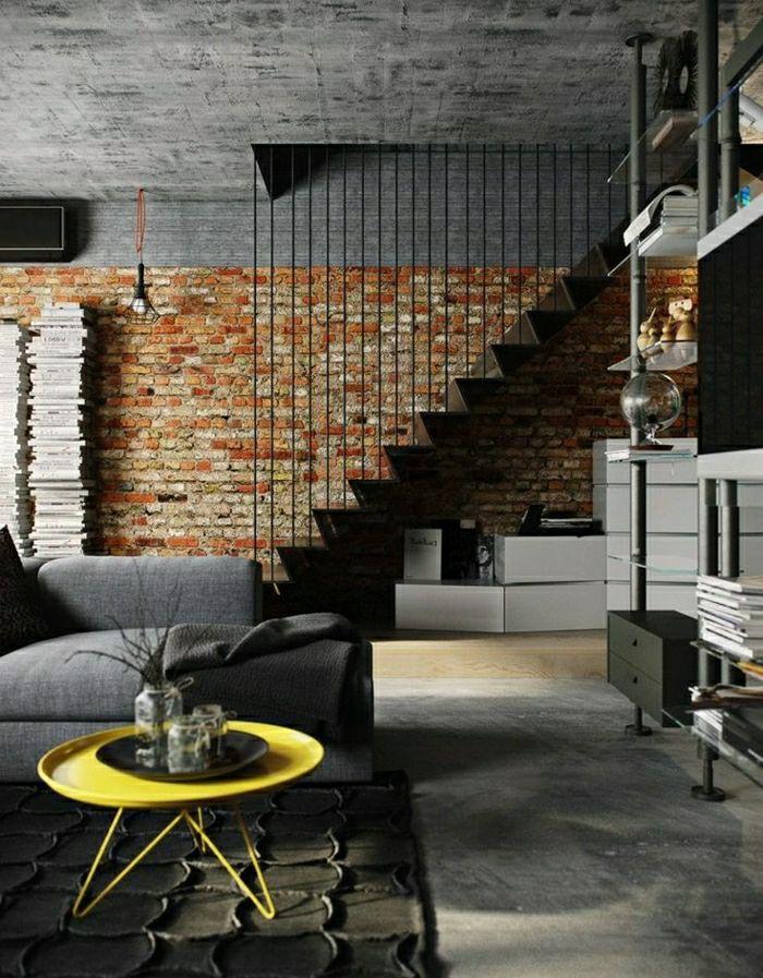 Ovale Couchtische gelb modern wohnzimmer gestaltung Wohnzimmer