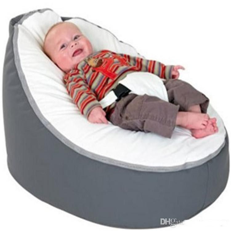 Cheap Bean Bag With Filling, Buy Quality Bean Bag Directly From China White Bean  Bags Suppliers: Grey With White Seat Infant Baby Bean Bag Snuggle Bed ...