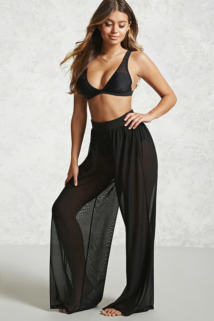 15c9295bb770d Product Name:Sheer Mesh Swim Cover-Up Pants, Category:CLEARANCE_ZERO,  Price:19.9