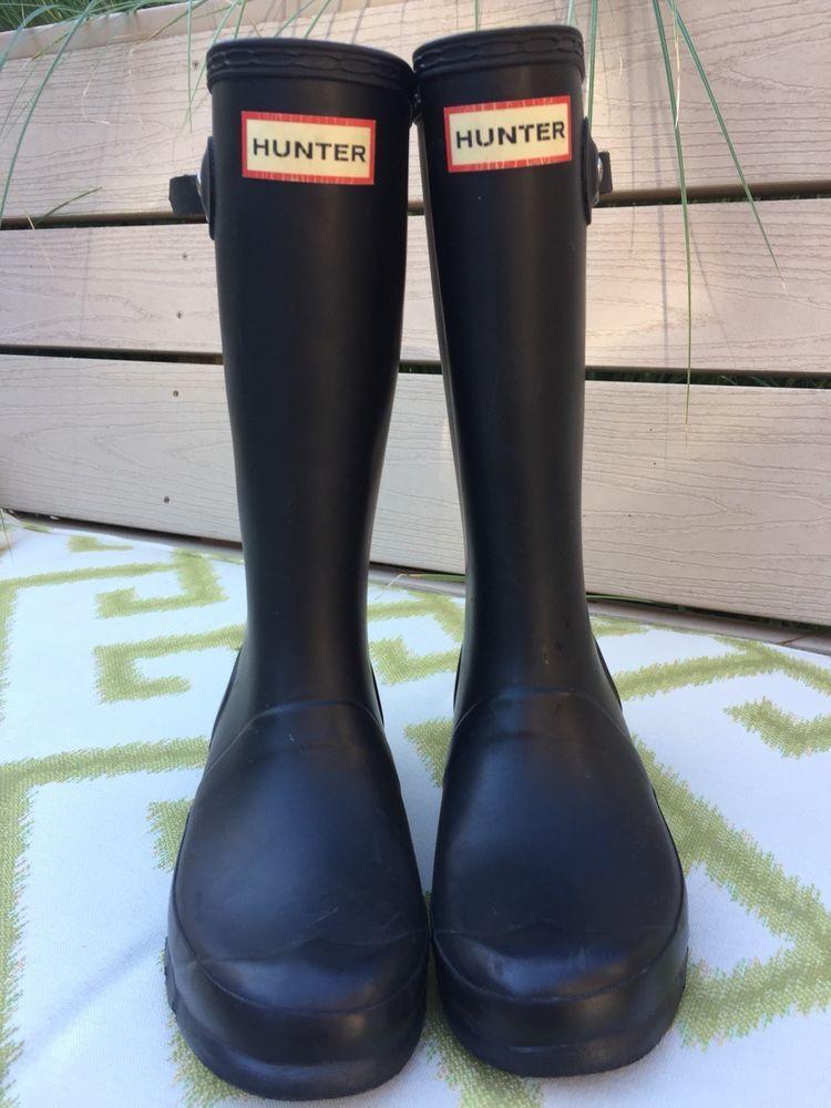 Girls Hunter boots - black US size 3