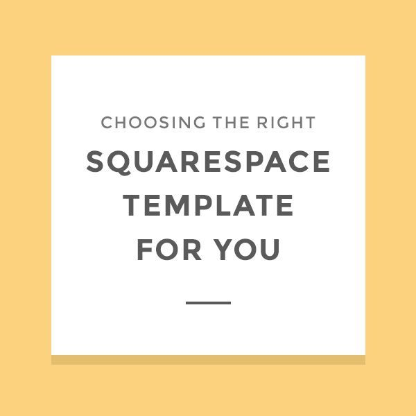 Choosing the right Squarespace template | Template and Wordpress