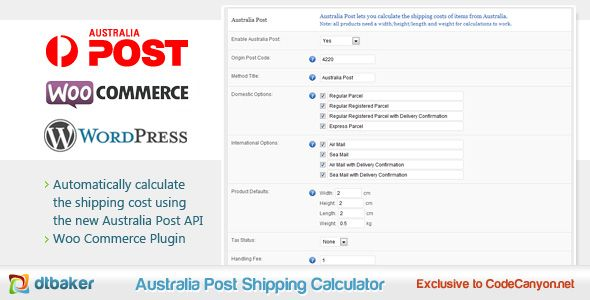 Australia Post Shipping Calculator by dtbaker