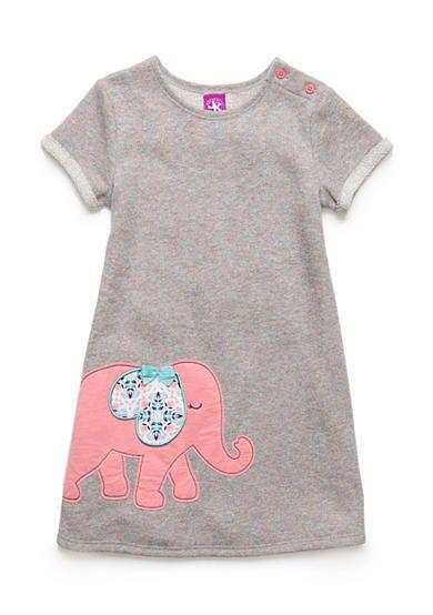 J. Khaki® French Terry Elephant Dress Girls 4-6X