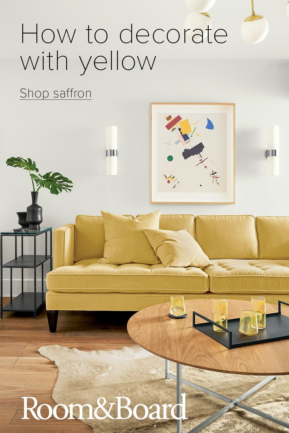 Decorate With Yellow In 2020 Modern Furniture Living Room Decor Ottoman In Living Room #yellow #living #room #furniture