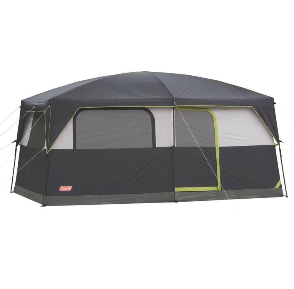 COLEMAN Prarie Breeze 9 Person WeatherTec Camping Tent w/ Fan & Light | 14 x 10' #Coleman