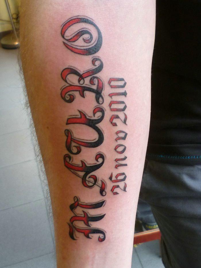 Black Red Tattoo Name Fonts Designs Tattoo Designs Tattoos