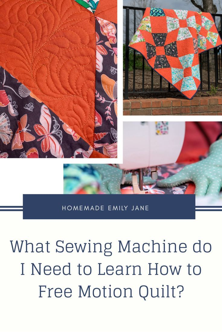 Can i learn to free motion quilt on my sewing machine