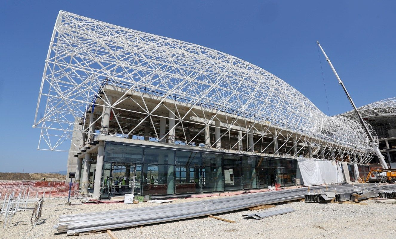 Terminal Exterior And Steel Roof To Be Completed By Years End Includes Photos Space Frame Zagreb Exterior
