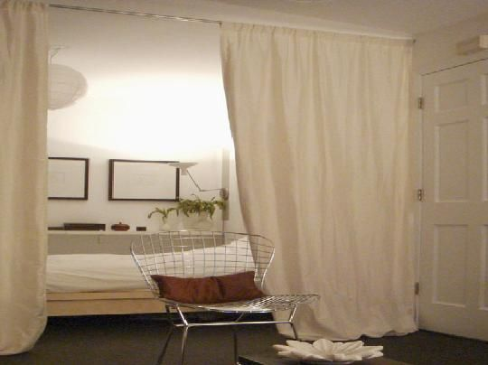 Room divider ideas moving in together pinterest - Room divider curtain ideas ...