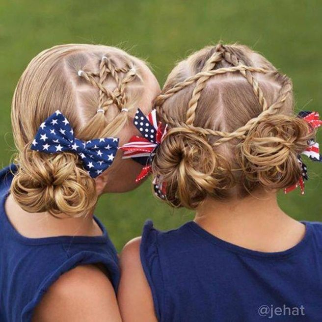 Diy Little Girls Patriotic Star Hairstyle Video Hairstyle