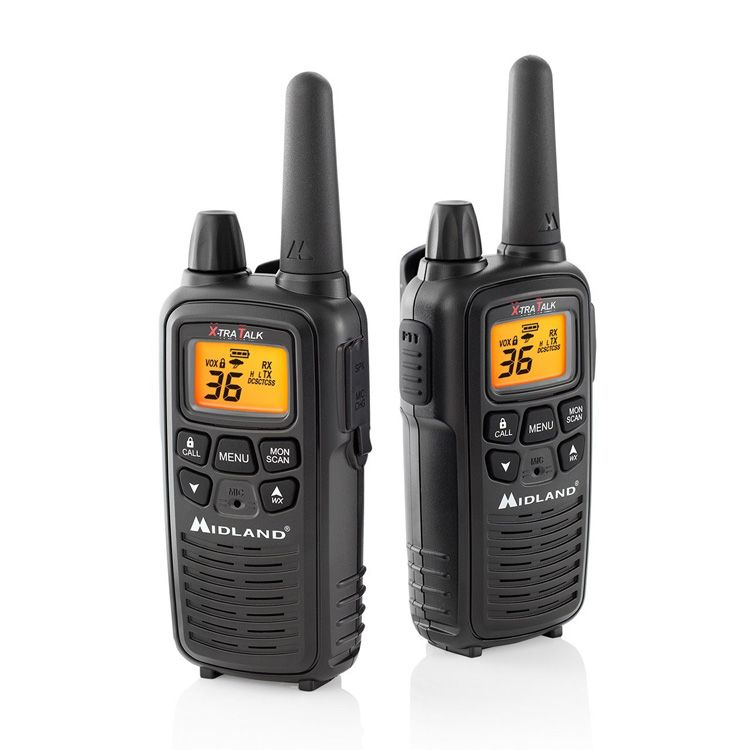 Midland LXT600VP3 36-Channel GMRS with 30-Mile Range, NOAA Weather Alert, Rechargeable Batteries and Charger