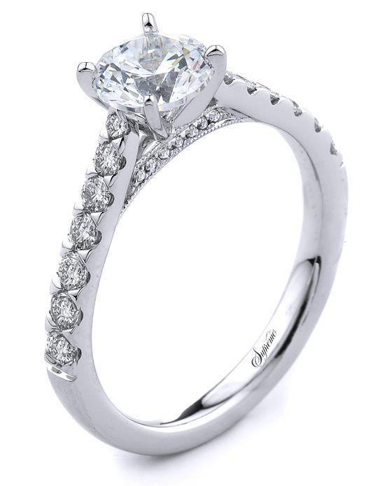 18k white gold engagement ring SJ34663 | http://trib.al/1JJWOHA