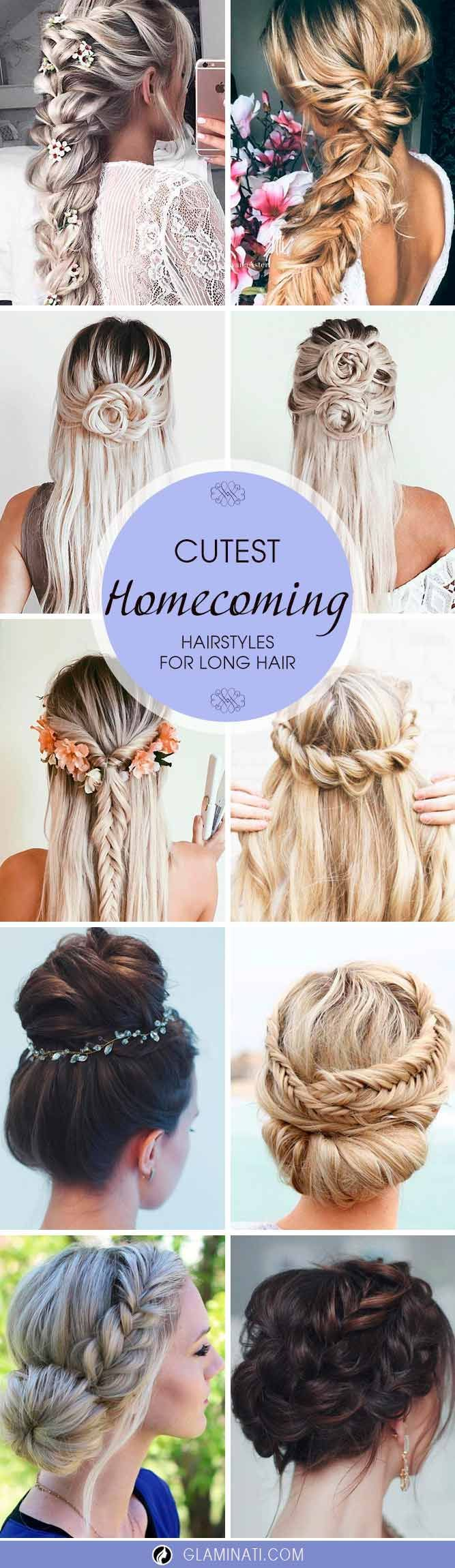 Cutest and most beautiful homecoming hairstyles see more