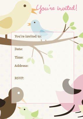 Bird Invitation Projects To Try Bird Party Invitations