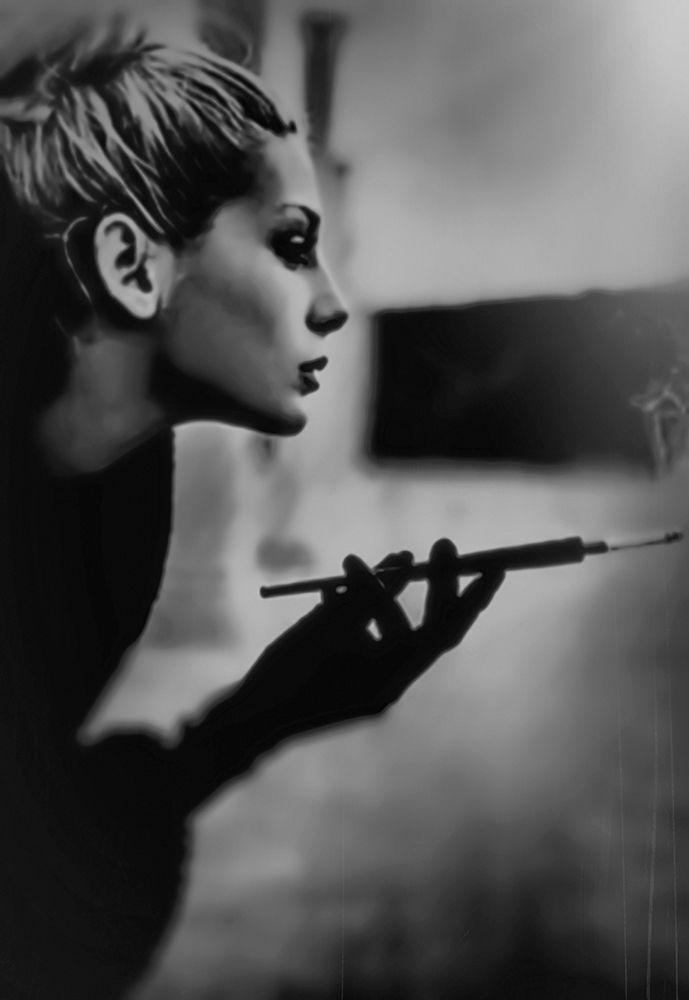 About Smoking de Lucian Olteanu sur Art Limited