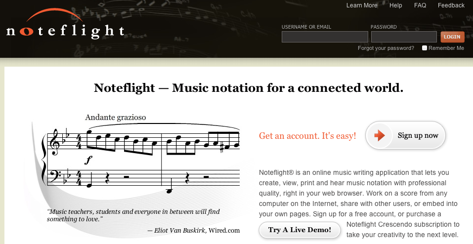 Noteflight: free online music notation software. Definitely ...
