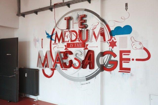 The Medium is The Massage Installation. #Sign #Design #SantiagoDesign