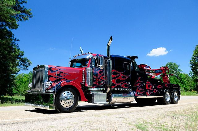 Craig Russell With Images Tow Truck Driver Trucks Peterbilt