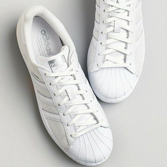 Negozio le adidas bianco uomini / donne scarpe da ginnastica taglia