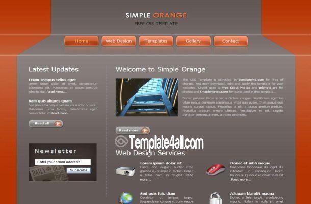 easy free website templates