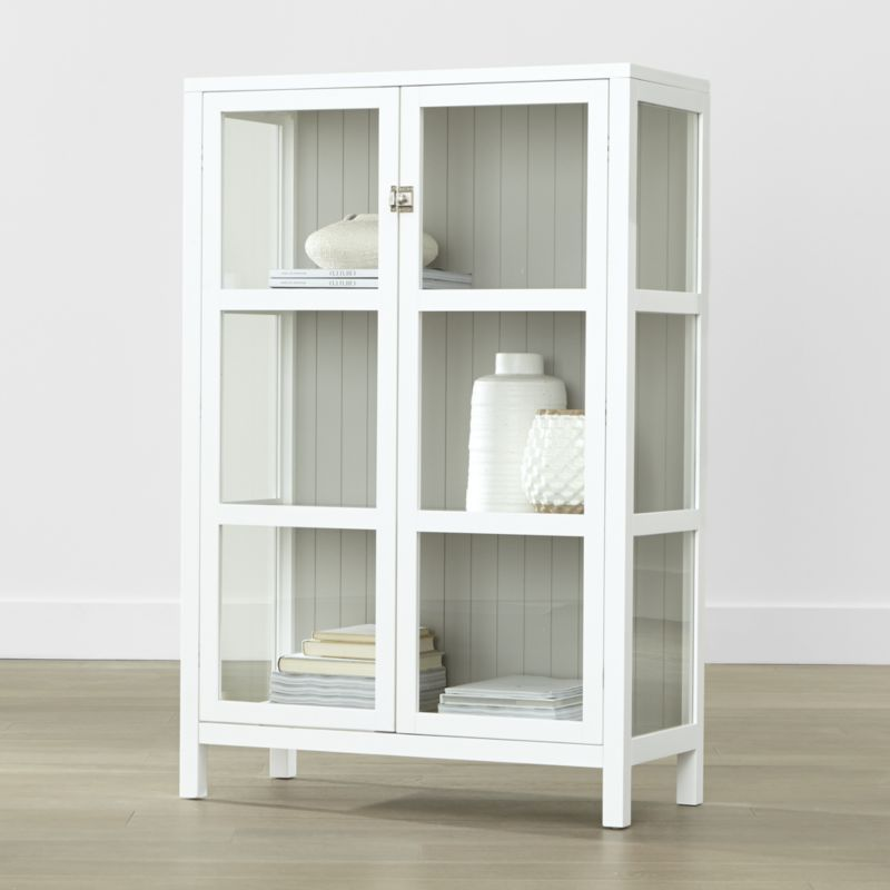 Kraal White Cabinet   Crate And Barrel