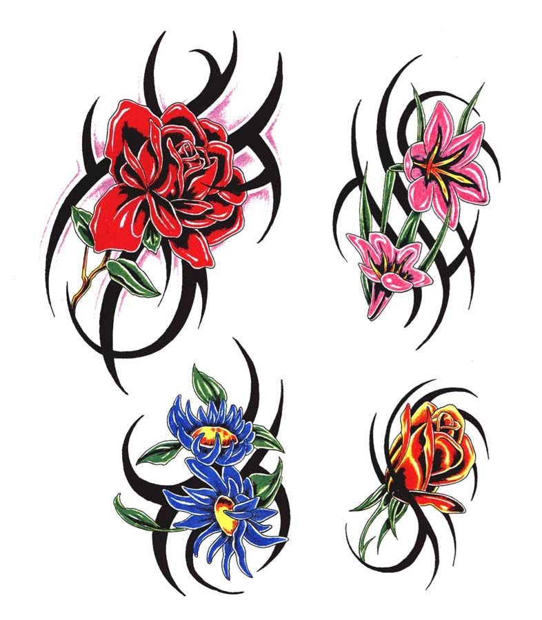 Tribal Flower Tattoos: Tribal Tattoo With Flower - Google Search