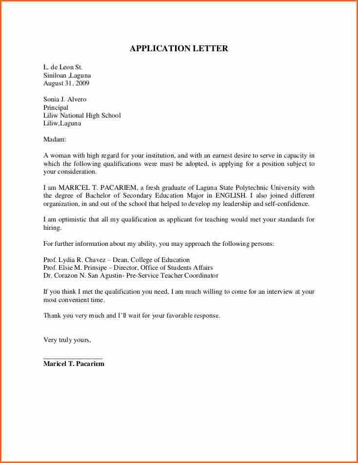 teacher application letterlication letter example sample college - teaching resignation letter