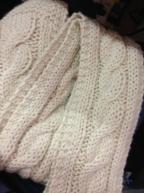 Easy Knitting Ideas Pinterest : Ravelry easy chunky cabled scarf pattern by joy povich