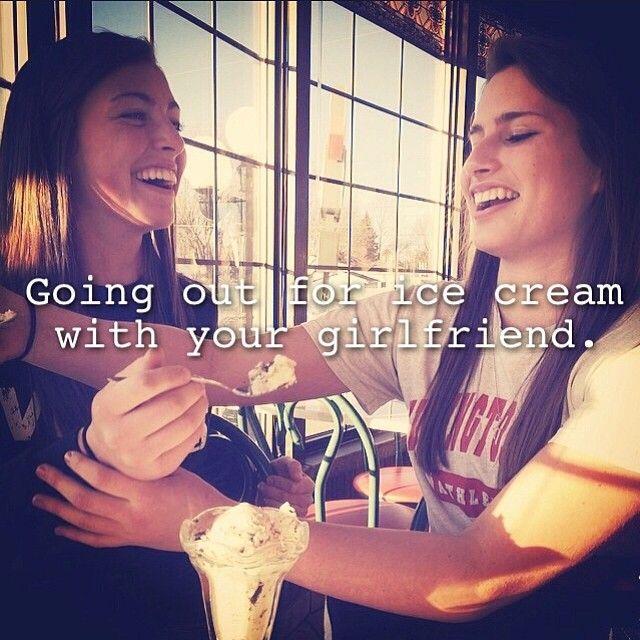 Lesbians and ice cream