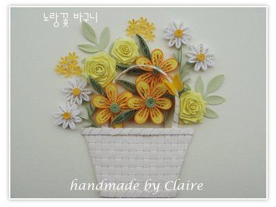 Claire's paper craft: basket. flower rose