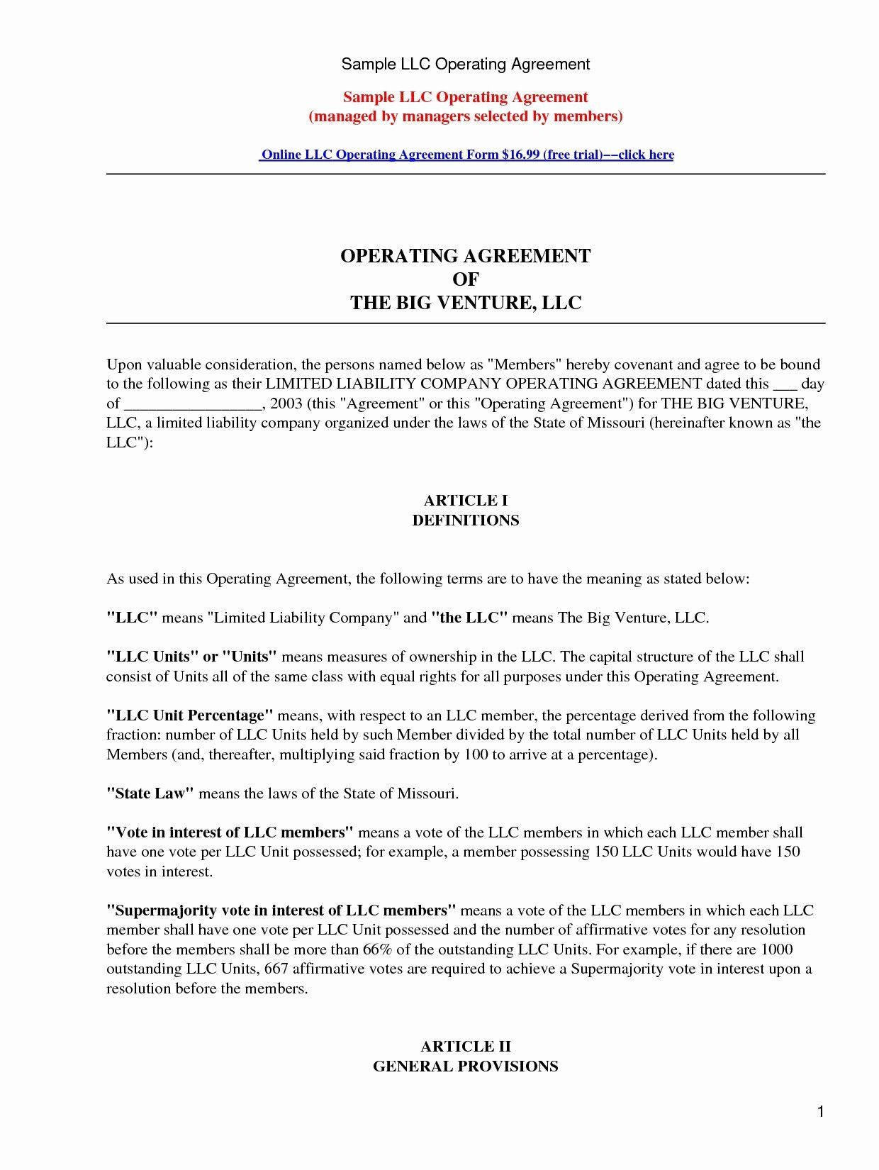 Corporate Operating Agreement Template Beautiful Partnership Contracts Samples Beautiful Bus Separation Agreement Template Contract Template Proposal Templates Missouri llc operating agreement template