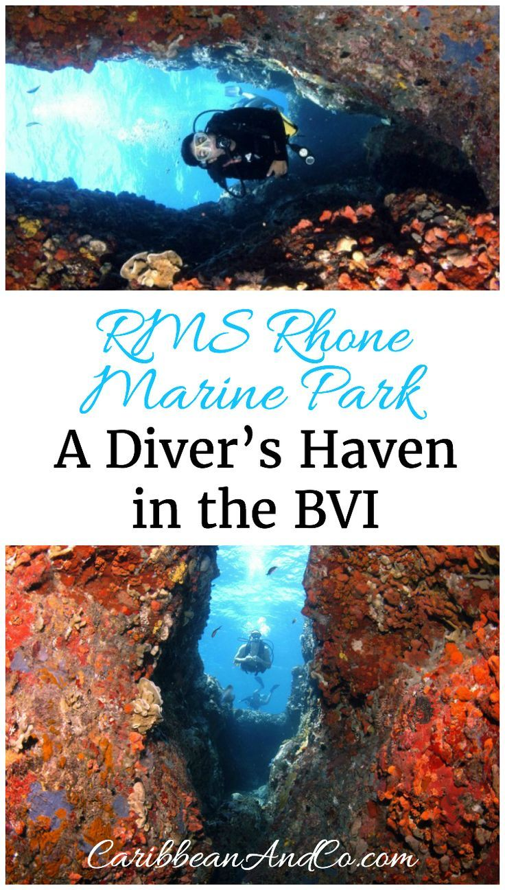 Find out why the RMS Rhone Marine Park located in the British Virgin Islands  (BVI) is one of the best places to travel to go diving in the Caribbean.