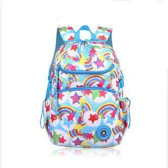 Blue Rainbow Bag School Bags For S Cute Pink Student Kids Nice Book Children Backpacks Star Printing Backpack