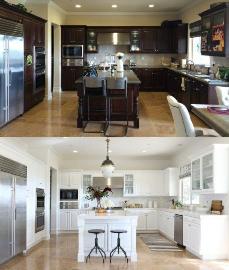 Küchenfronten erneuern Küchenschranktüren austauschen bevor und nach ...