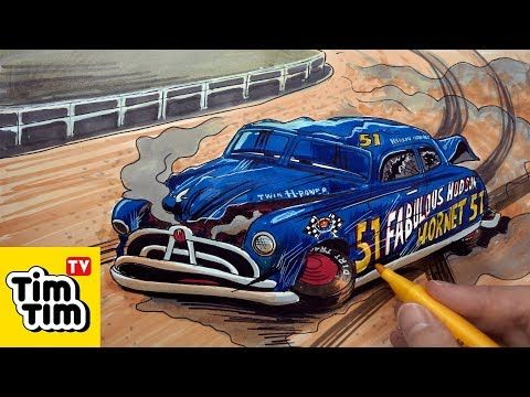 How to draw Doc Hudson Crashed Badly Injured | CARS 3 ...