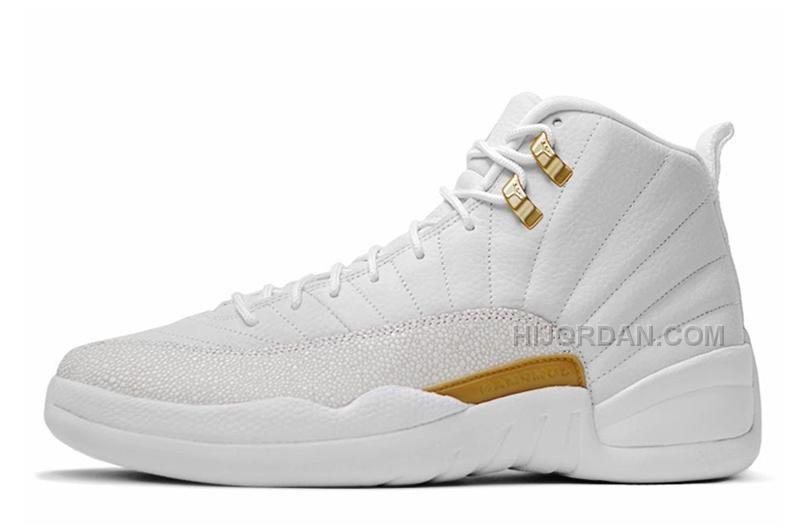 """fddd1b1a158ffd Air Jordan 12 """"OVO"""" PEs White Metallic Gold-White"""