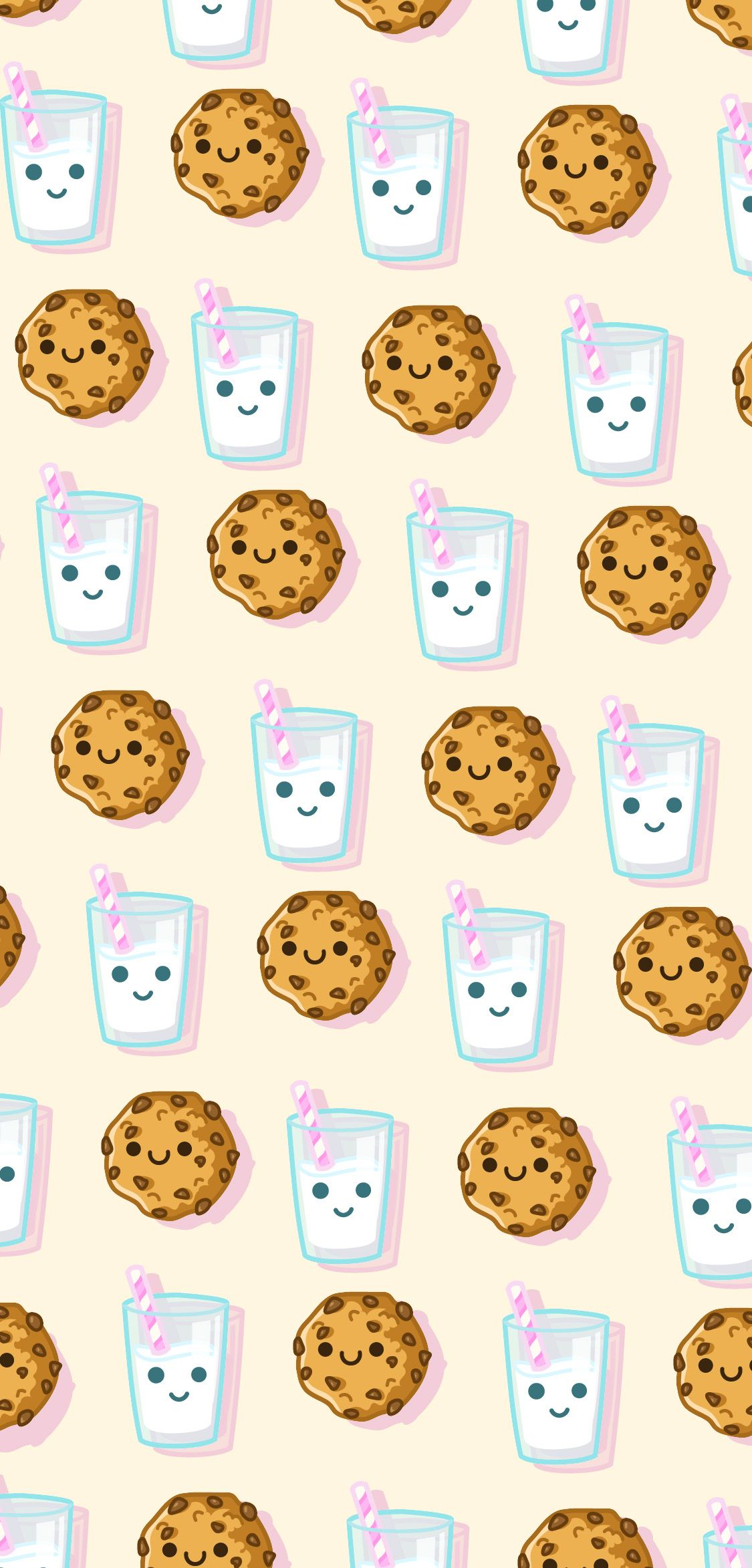 Cute Milk And Cookie Phone Wallpaper In 2020 Wallpaper Iphone Cute Aesthetic Iphone Wallpaper Cookie Drawing