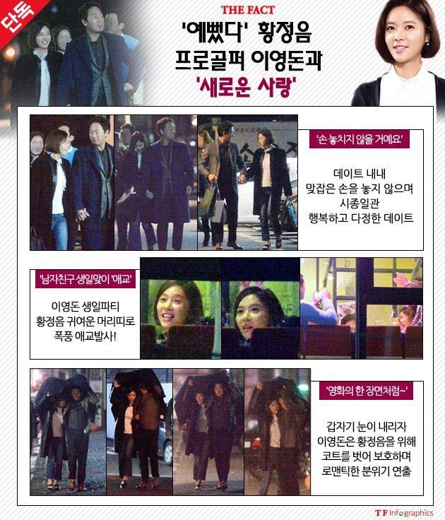 [단독] '예뻤다' 황정음, 프로골퍼 이영돈과 '새로운 사랑♥♥'(종합)