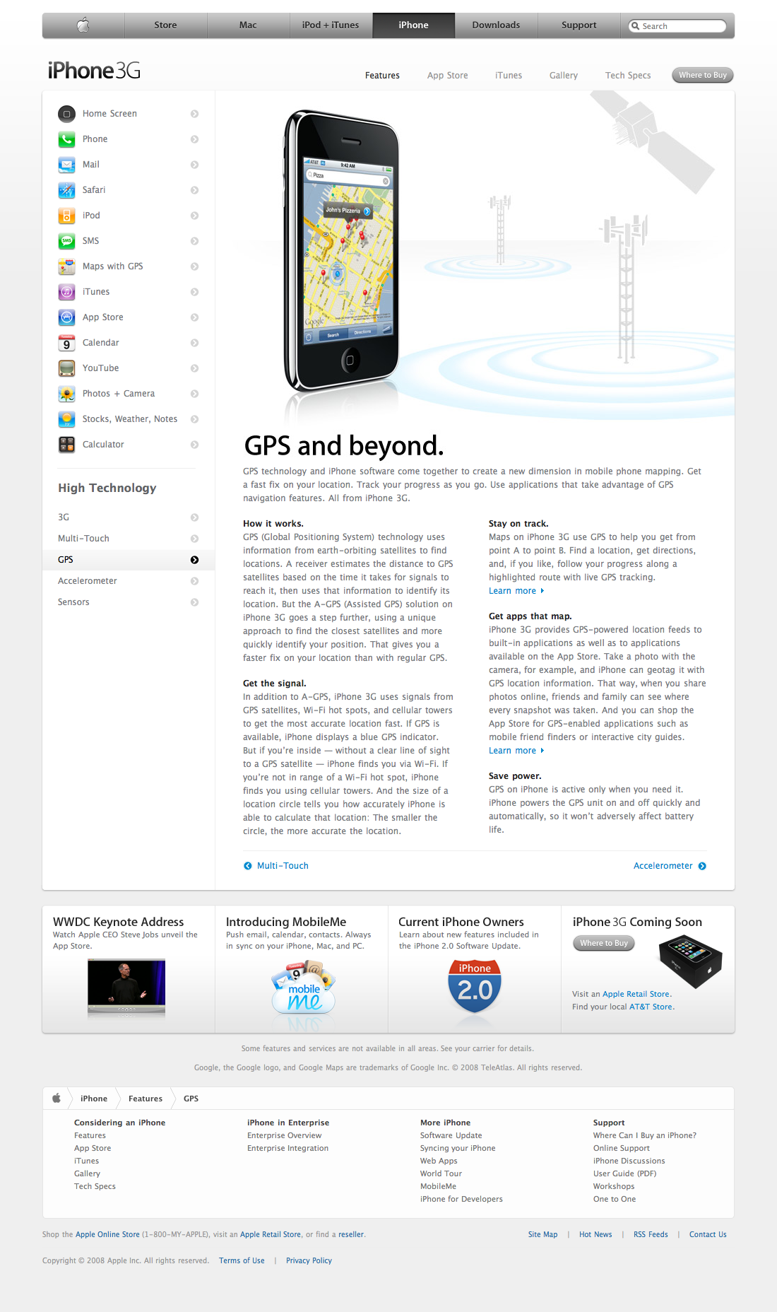 Apple - iPhone - Features - GPS (11.06.2008)