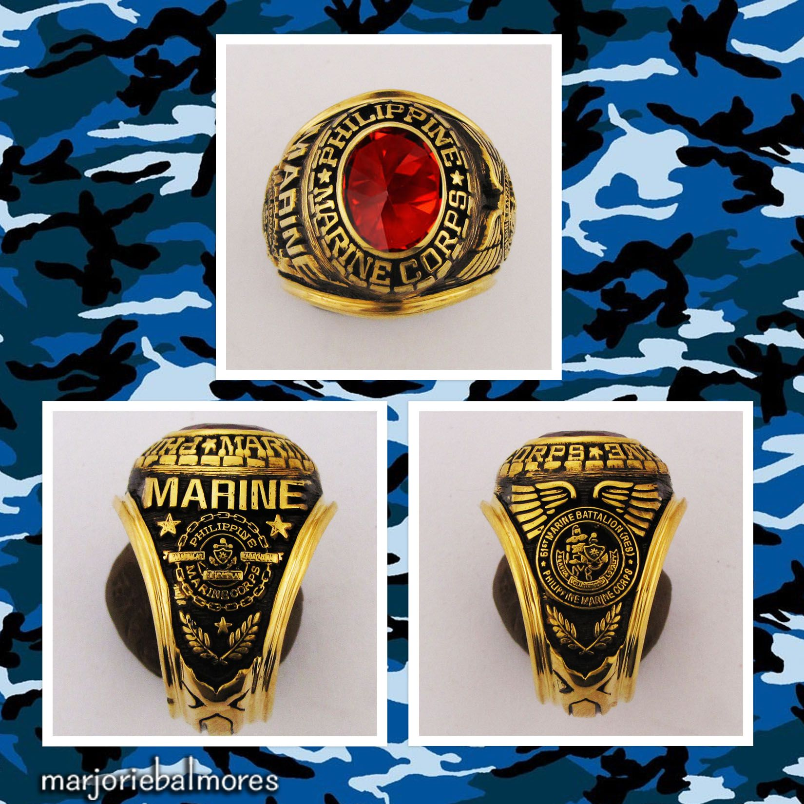 Philippine Marine Corps Military Rings Can Be Made In Brass Gold Stainless Alloy Pure Sterling Silver And In Real Gold For In Pure Products Rings Real Gold