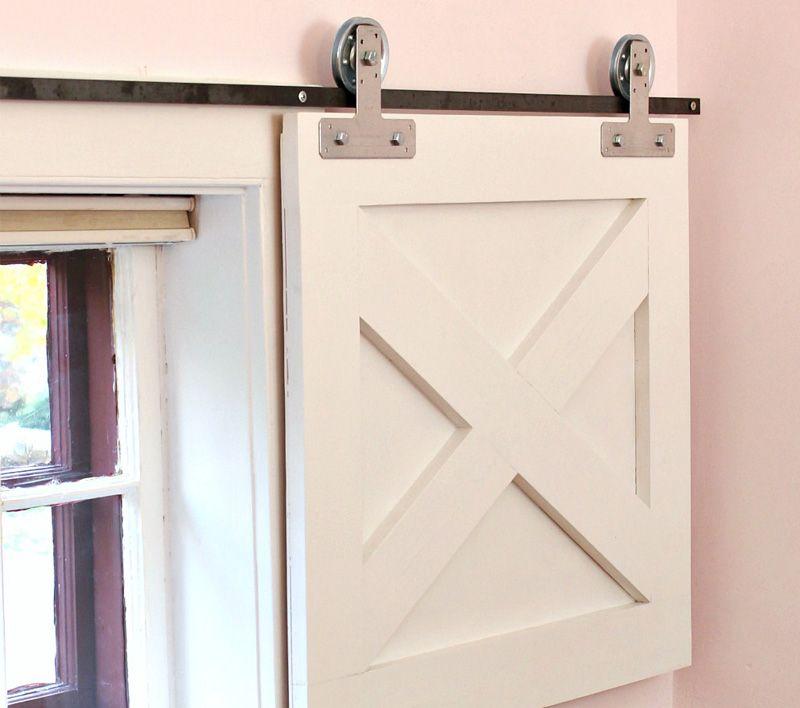 Diy how to make barn door window coverings making barn