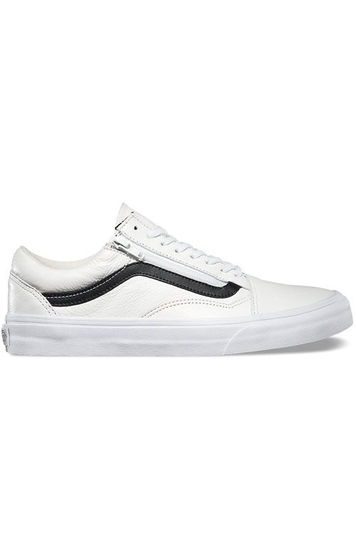 f850a01e1aba7c Vans, Old Skool Zip Shoe - Premium Leather White in 2019 | Shoes ...