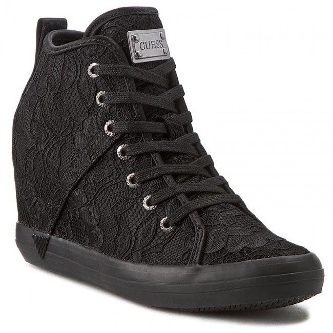Sneakersy Guess Jilly Fljil3 Sat12 Black High Top Sneakers Black Top Sneakers