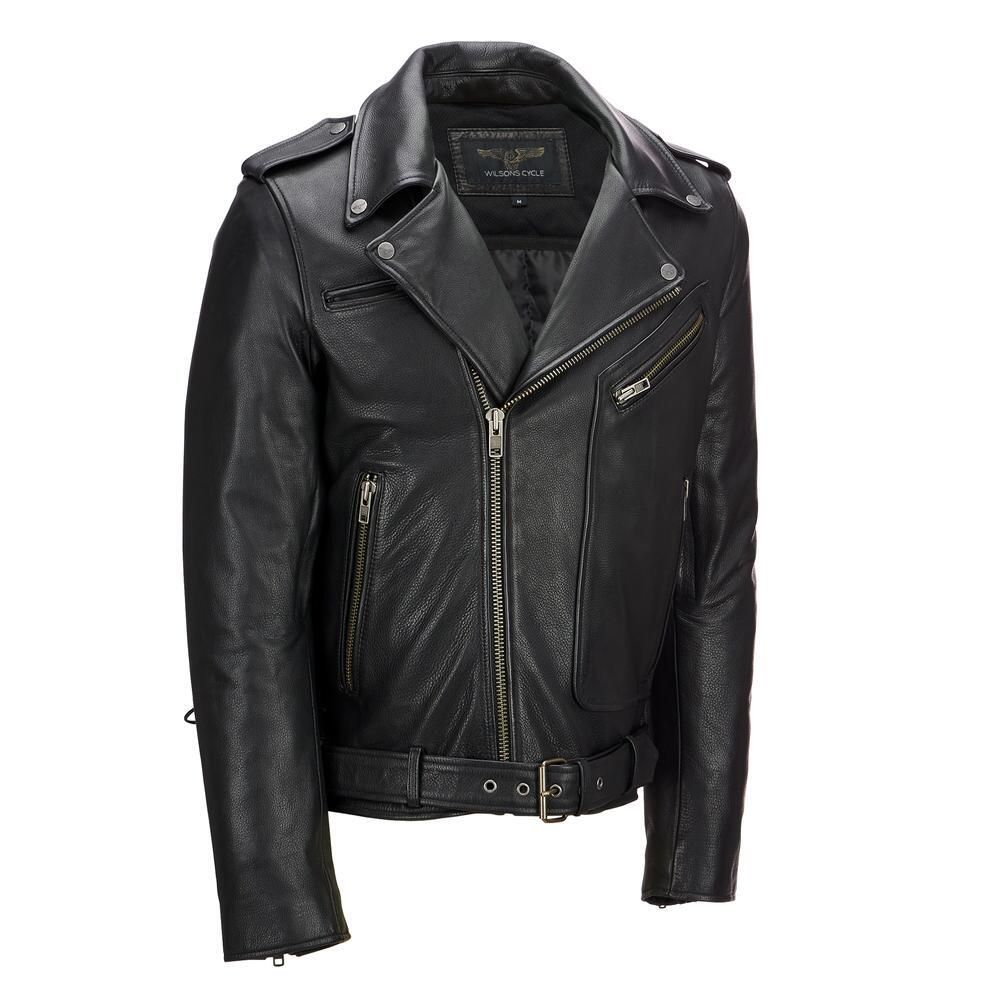 Wilsons Leather Performance Asymmetrical Leather Motorcycle Jacket W Side Lacing 225 Mens Leather Jacket Biker Leather Jacket Men Asymmetrical Leather Jacket [ jpg ]