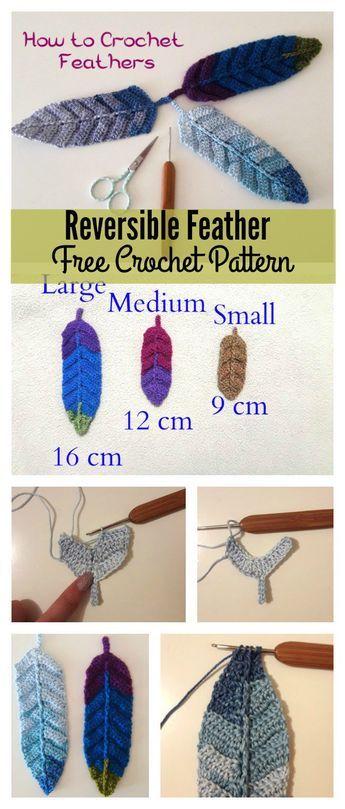 Reversible Feather Free Crochet Pattern | Crochet Patterns ...